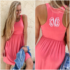 Monogram Pom-Pom Cover Up