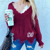 Monogram Raven V Neck Sweater