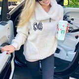 Monogram Frosty Sherpa Pullover