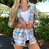 Monogram Landon Plaid Button Down