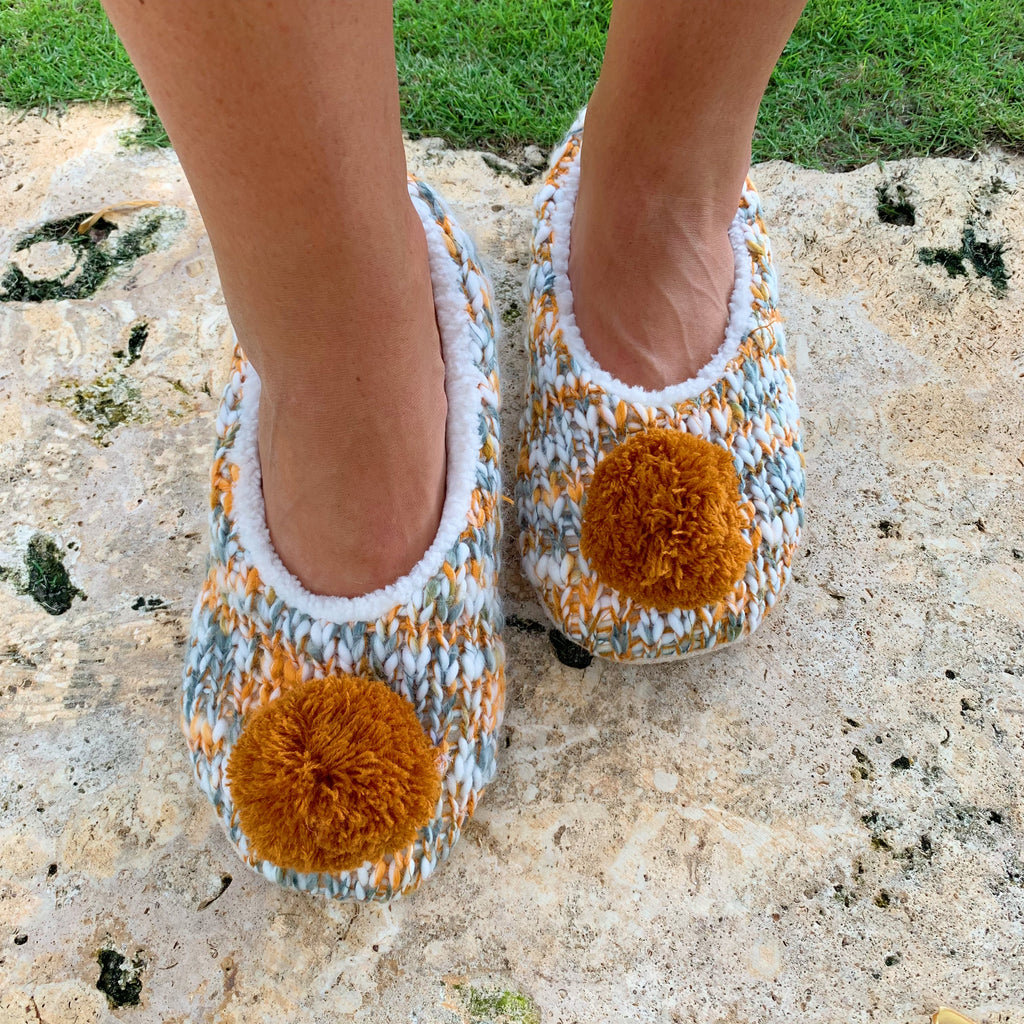 Harvest Pom Pom Slippers