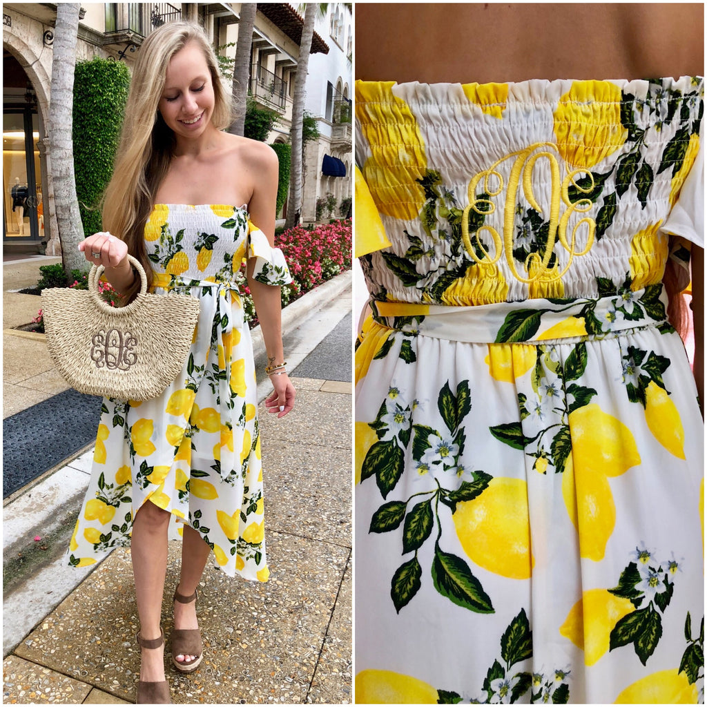 Monogram Lemon Dress