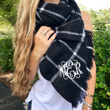 Monogram Black & Cream Scarf
