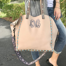 Monogram Anchor Beach Tote