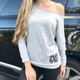 Monogram Heather Gray Sweatshirt