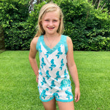 Monogram Girls Mermaid Shorts Pajama Set