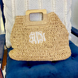 Monogram Capri Straw Bag