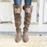 Monogram Oakley Over the Knee Boots