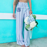 Monogram Beach Smocked Pants