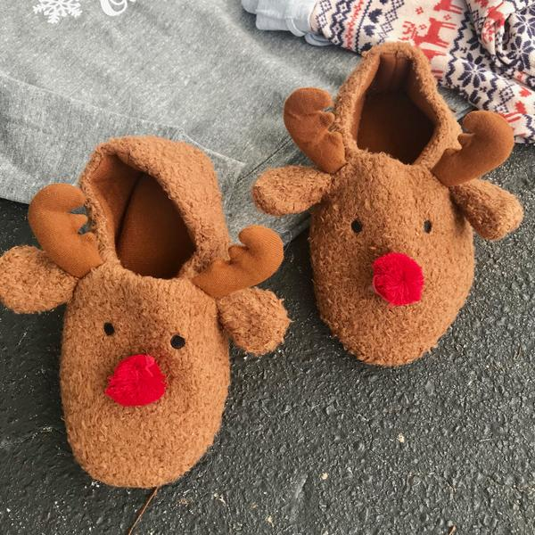 Prancer Reindeer Slippers