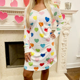Monogram Rainbow Heart Nightgown