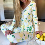 Monogram Lemon Pajama Set