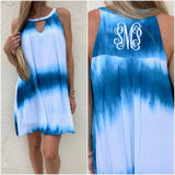 Monogram Turquoise Ombre Dress
