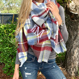 Monogram Jackson Plaid Scarf
