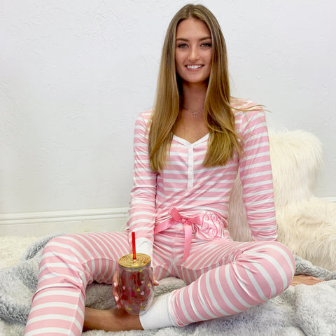 Monogram Kourtney Pajama Set
