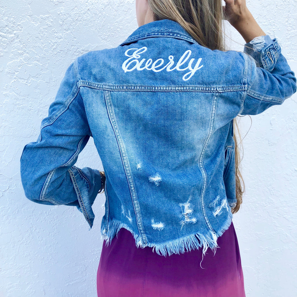 Personalized Everly Jean Jacket