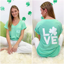 Monogram LOVE V-Neck Tee