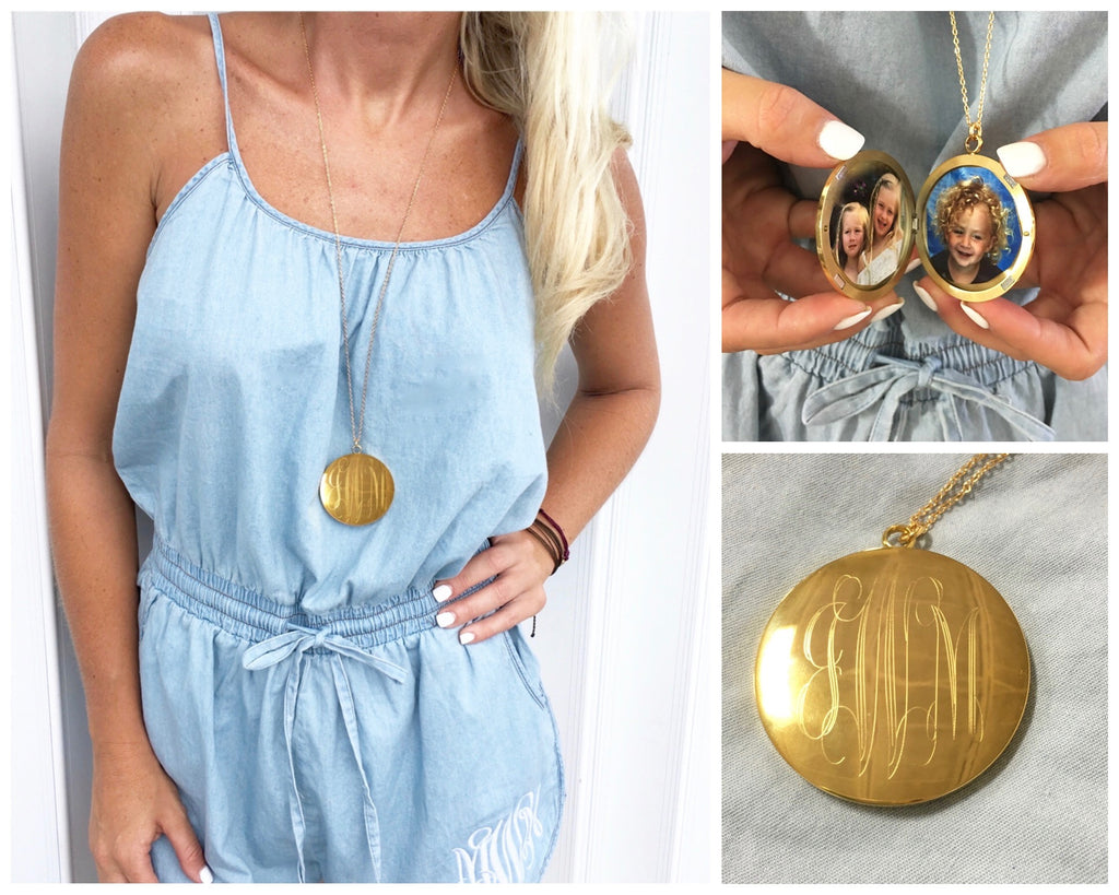 Monogram Jules Locket Necklace