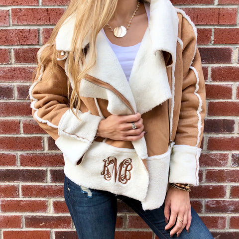 Monogram Hooded Toggle Puffer Vest