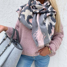 Monogram Simona Striped Scarf