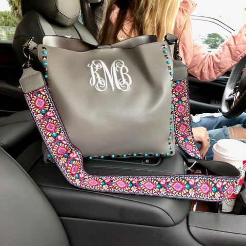 Monogram Palm Print Tote Bag