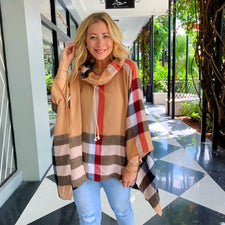 London Plaid Poncho