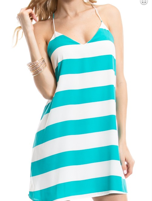 Monogram Isla Striped Dress