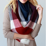 Monogram Clara Color Block Scarf