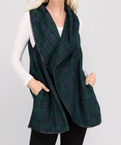 Monogram Phoebe Plaid Vest