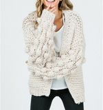 Monogram Paris Pom Pom Cardigan