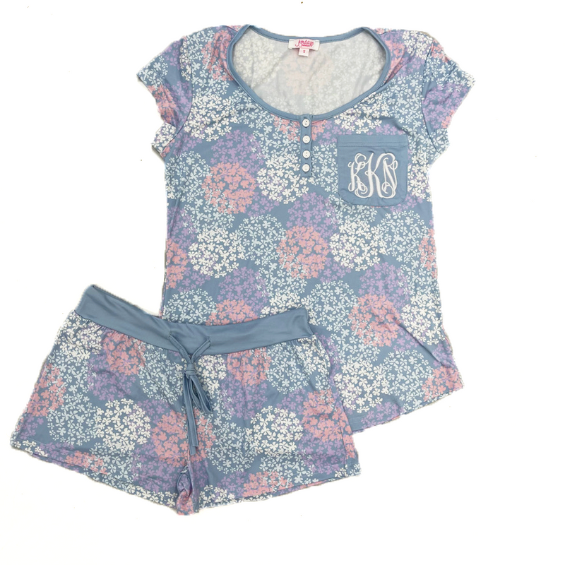 Monogram Spring Bloom Pajama Set