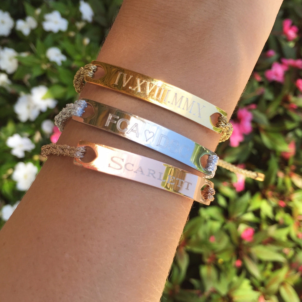 bar from bracelet bracelets pin bangles skinny date personalized earringsnation gold steel bangle wedding rose stainless engraved coordinates roman