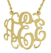 Mini-Monogram Disc Necklace