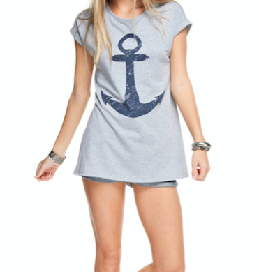 Monogram Amber Anchor Tee