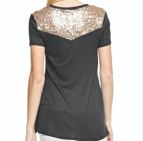 Monogram Skye Sparkle Pocket Tee