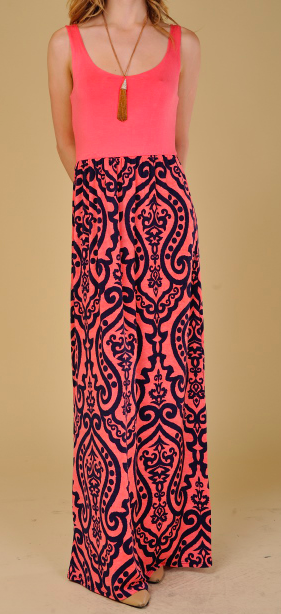 Monogram Trellis Dress