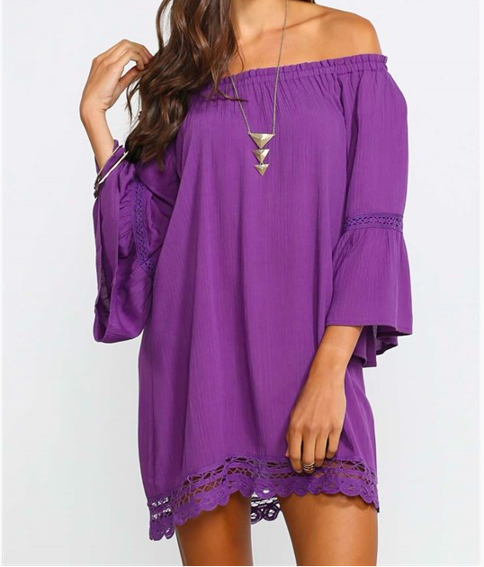 Monogram Faith Flutter Dress