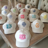 Monogram White Hat