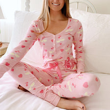 Monogram White Wine Pajama Set