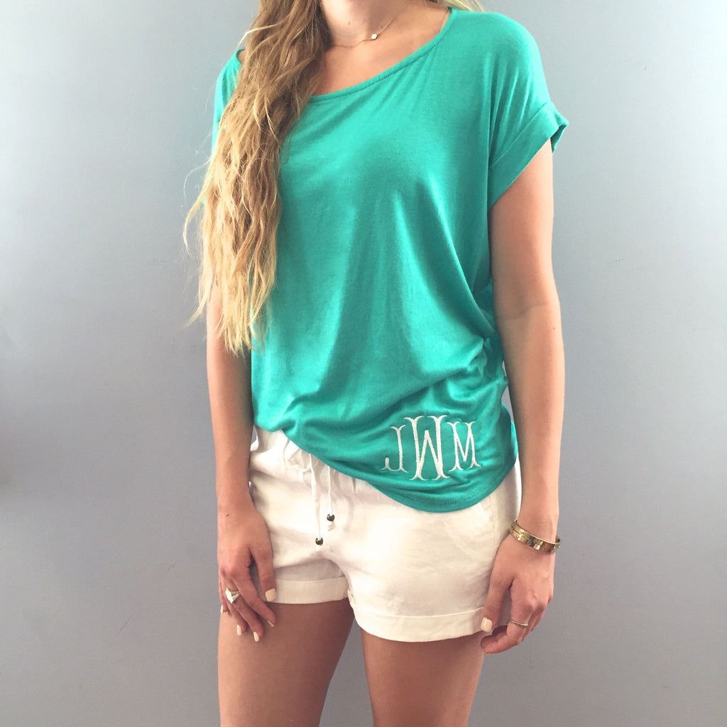 Monogram Cuffed Sleeve Shirt