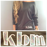 Monogram Dark Gray & Multi-Colored Initials Sweatshirt