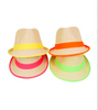 Monogram Neon Trim Fedora Hat
