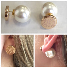 Monogram Drop Earrings