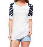 Monogram Polka Dot Baseball Tee