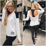 Monogram Open Back Athleisure Top