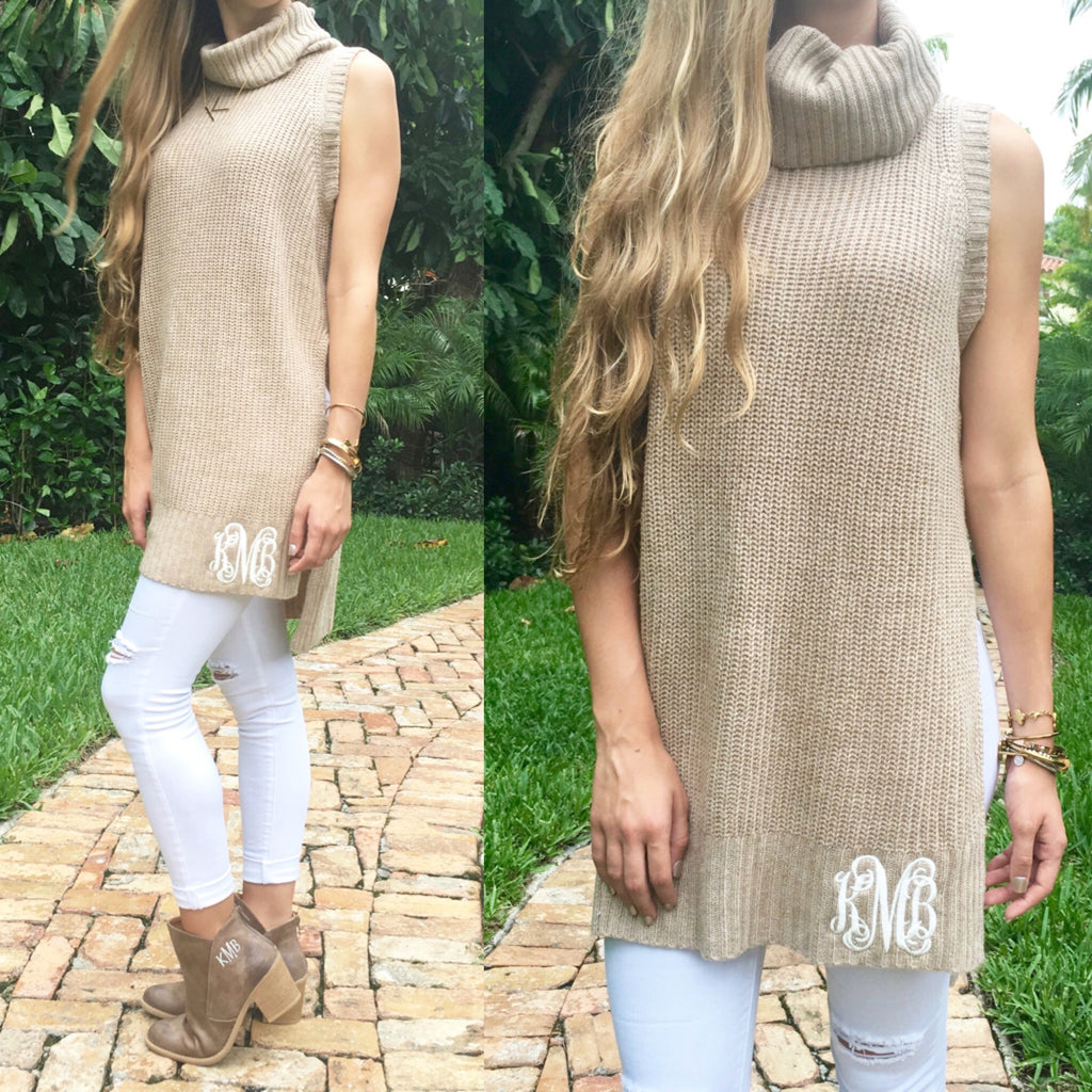 Monogram Tessa Knit Turtleneck