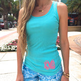 Monogram Ribbed Tank Top