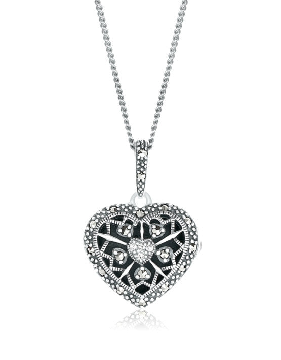 Heart Locket with Diamonds