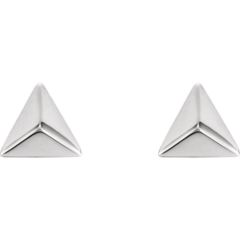 Pyramid Studs - White Gold