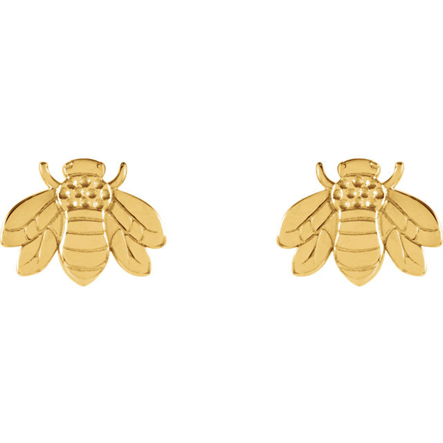 Bumblebee Studs - Yellow Gold